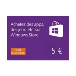 Cartes Windows Store 5€